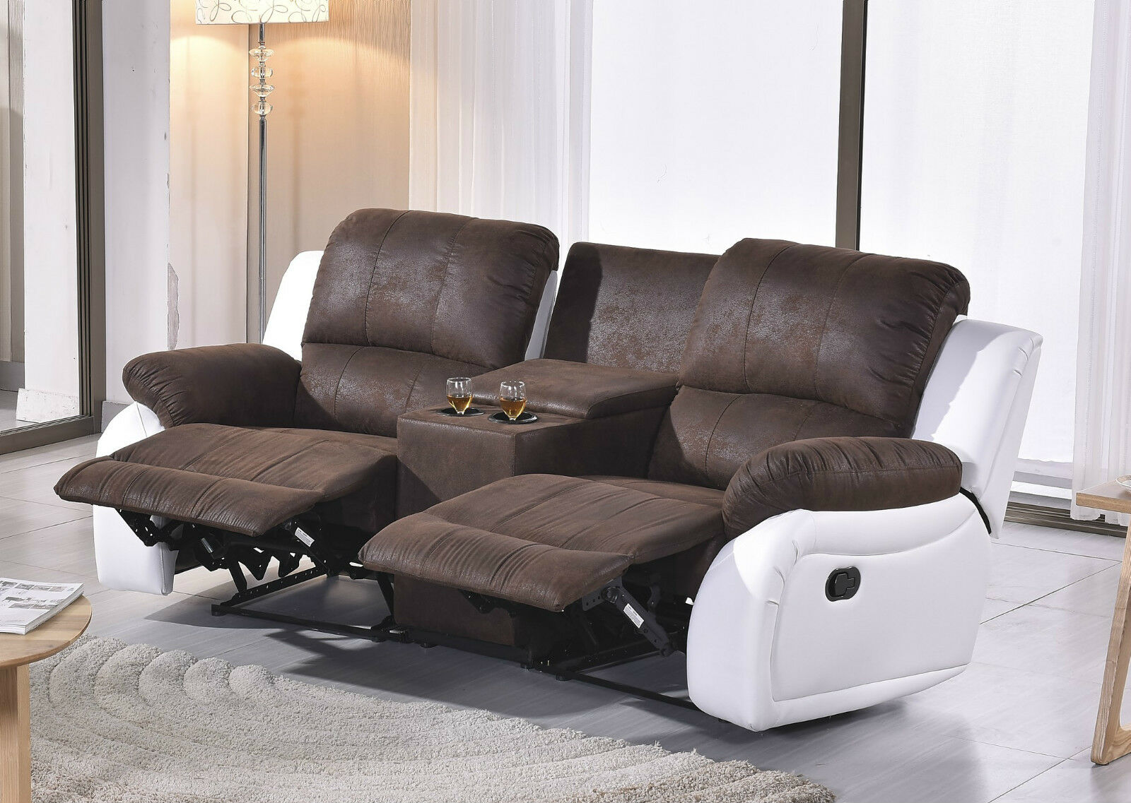 mikrofaser sofa kinosofa relaxcouch fernsehsofa recliner. Black Bedroom Furniture Sets. Home Design Ideas