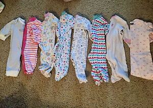 3-6 month girl Jammie's