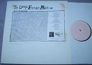 DEEP-FREEZE-MICE-Live-In-Switzerland-1985-LOGICAL-FISH-WHITE-LABEL-RARE