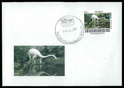 Dinosaurier-custom (GERMANY DINOSAUR DINOSAURI DINOSAURIER - CUSTOM STAMP - ONLY 2 COVER MADE!! cp19)