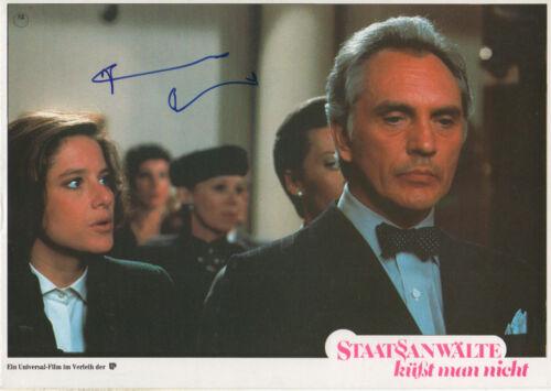 """Terence Stamp Autogramm signed A4 Kinoaushangbild """"Staatsanwälte küsst man nich"""""""
