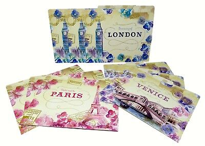 Lady Jayne Set Of 9 Document File Folders Floral Cities 87013 Punch Studio