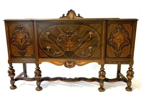 Vintage Antique Wooden Carved Sideboard 2 DRAWER 2 DOOR Victorian Buffet