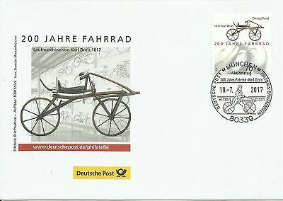 Sonderbeleg Deutsche Post AG - 200. Jahre Fahrrad - Auflage 1000 Stück