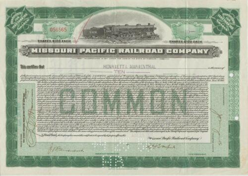 1932 Missouri Pacific Railroad Company Stock Certificate