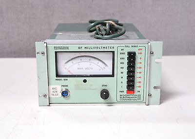 Boonton Electronics 92b Rf Programmable Millivoltmetervoltmeter