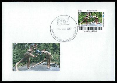 Dinosaurier-custom (GERMANY DINOSAUR DINOSAURI DINOSAURIER - CUSTOM STAMP - ONLY 2 COVER MADE!! cp21)