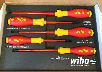 Wiha 5 Pc 1000 Volt Insulated Screwdriver Set 32081