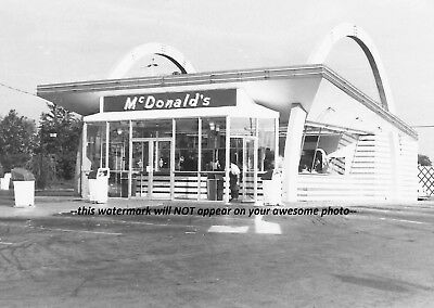 Vintage Route 66 McDonald's Restaurant PHOTO Sign Drive-In Diner, 1958 Missouri