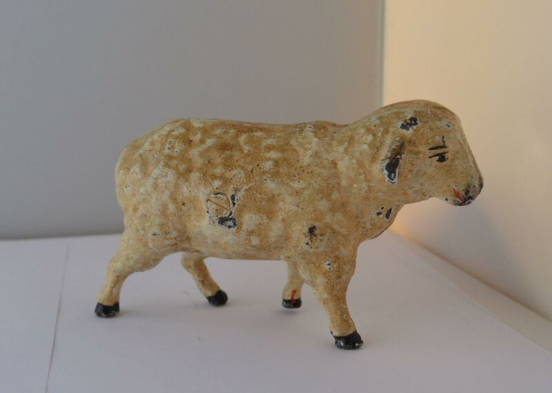 "Antique Cast Iron Still Penny Sheep Bank   3"" Tall"