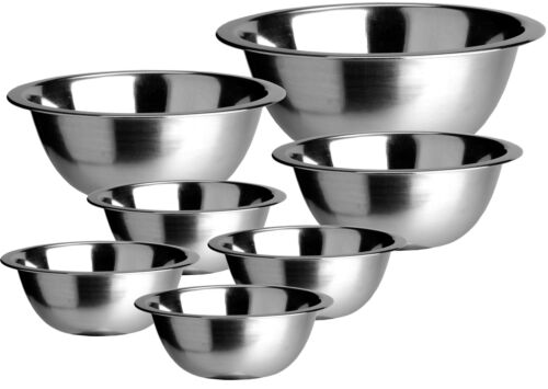 7er Edelstahl Rührschüssel Set ab 16cm bis 30 cm Salatschüssel große Schale groß