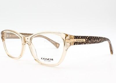 COACH 6050 5235 Lakota Eyeglasses Frame Glasses Brown Crystal ~ Logo Print ~53mm