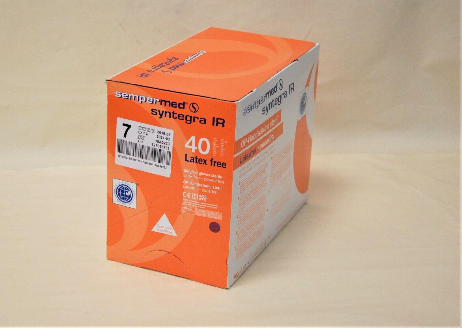 OP-Handschuhe Sempermed Syntegra IR Gr. 7,0 steril latexfrei puderfrei 40Paar
