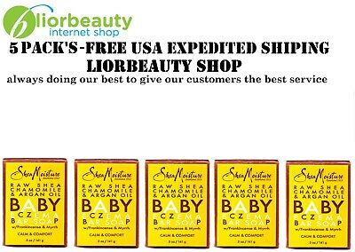 5 PACK'S - Baby Eczema Bar Soap, Raw Shea Chamomile & Argan Oil, 5 oz (141 g)