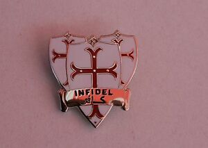 England St George Knights Templar Infidel Badge Enamel Pin Badge Oi! England