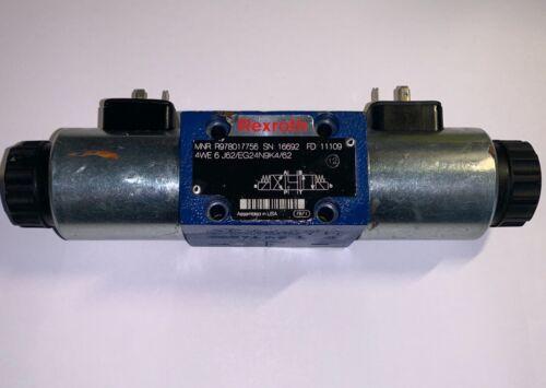Rexroth R978017756 Hydraulic Directional Valve (#4WE-6-J62/EG24N9K4/62)
