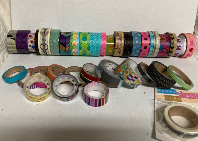 Large Lot Of Washi Tape Pre-owned