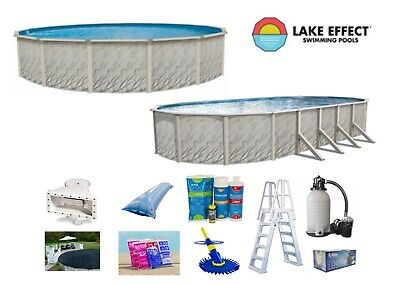 Lake Effect MEADOWS Above Ground Steel Wall Swimming Pool Package Kit