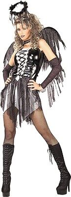 HALLOWEEN FANCY DRESS COSTUME ~ GOTH FALLEN ANGEL FAIRY SM 8-10 (Fallen Fairy Costume)