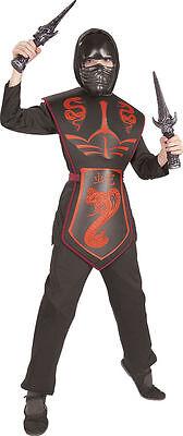 RED COBRA DRAGON NINJA FANCY DRESS - Ninja Cobra Kostüm
