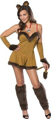 FANCY DRESS COSTUME ~ S/W COWARDLY LION SMALL - Womens Cowardly Lion Costume