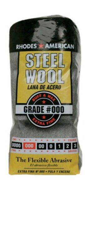 6 Packs Rhodes American Steel Wool Grade 000 - Extra Fine