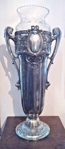 HUGE ART NOUVEAU JUGENDSTIL WMF VASE COMPLETE WITH ORIGINAL LINER 1906