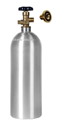 5 lb. CO2 New Aluminum Cylinder & Leak Stopper - Homebrew Beer - CGA320 Valve