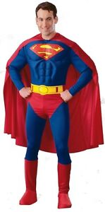 FANCY-DRESS-COSTUME-DELUXE-MUSCLE-CHEST-SUPERMAN-SM