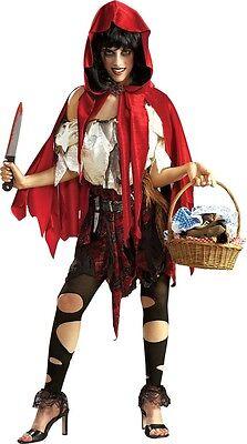 Dead Fairy Tale Halloween Costumes (HALLOWEEN FANCY DRESS ~ UHA DEAD RIDING HOOD XS)