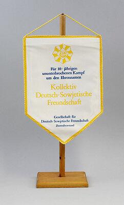 GDR Pennant 10 Years Fighting Collective Deutsch-Sowjetische Friendship Dsf