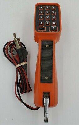 Att Linemans Test Butt Orange Red Black Phone Line Handset Tester - Untested