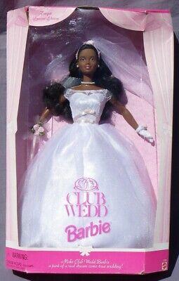 Barbie Aa Club Wedd Boda Novia 1998 Mattel 22361 Muñeca Vestido Boda...