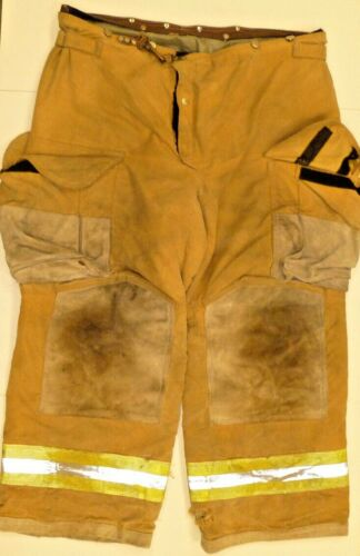 40R 40x28 Brown Janesville Lion Firefighter Turnout Bunker Pants with Liner P825