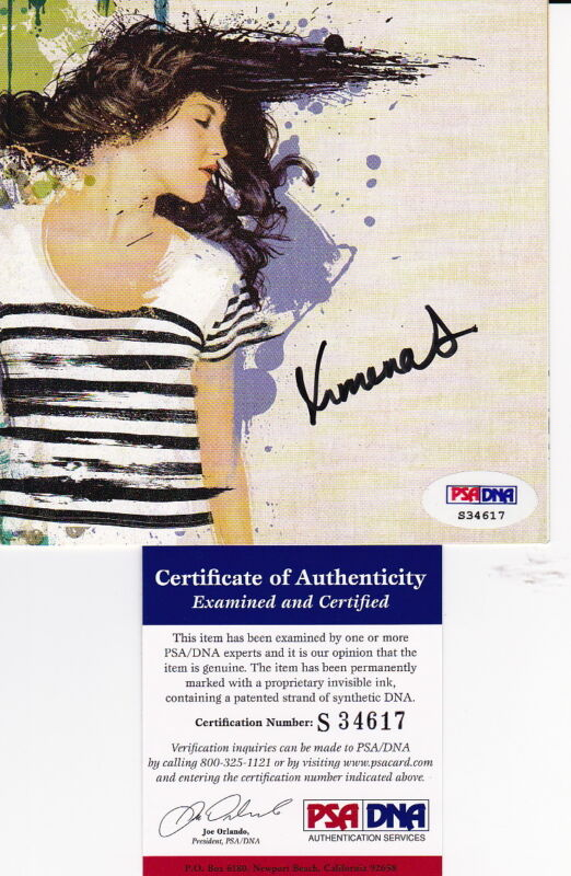 XIMENA SARINANA signed autographed CD cover PSA DNA COA LATIN POP singer poster