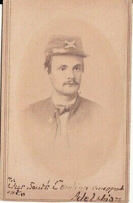 Civil War 9th Artillery Soldier - Sitting Bust Photo CDV Photograph