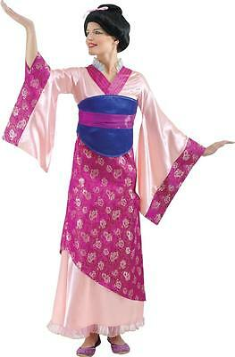 Mulan Costume Adults (EURO UK DISNEY PRINCESS MULAN GEISHA PINK COSTUME DRESS BELT WOMENS ADULT S)