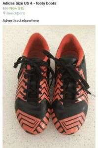 Adidas footy boots size kids US 4 Beechboro Swan Area Preview