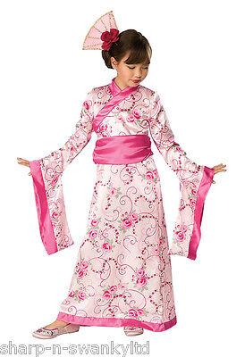 Mädchen Rosa Chinesisch Orientalisch Japanisch Prinzessin Geisha Kostüm - Chinesische Prinzessin Kostüm