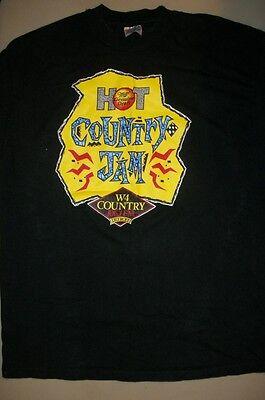 Hot Country Jam 1993: vintage extra large t-shirt, Pam Tillis/Marty Stewart/etc.