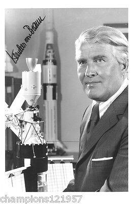 Wernher von Braun ++Autogramm++ ++Raketen Erfinder++