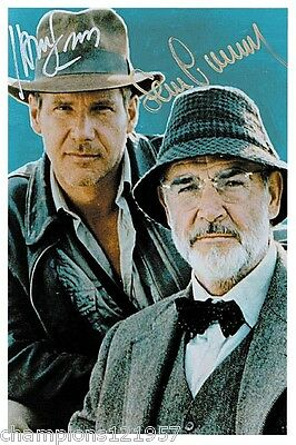 Harrison Ford-Sean Connery++Autogramm++Indianer Jones++