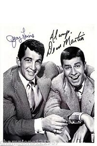 Jerry Lewis-Dean Martin++Autogramm++Hollywood-Legende++