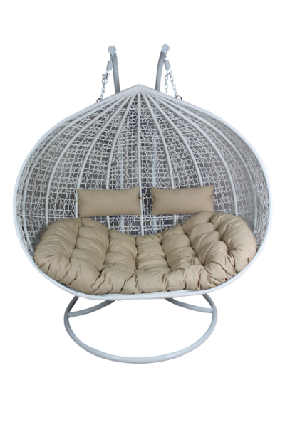 XL Double And A Half Hanging Egg Chair   Wicker Outdoor Furniture ...