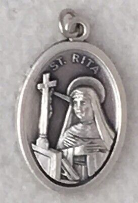ST RITA of CASCIA Catholic Saint Medal patron abuse victims difficult marriages