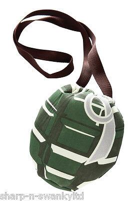 Damen Mädchen Hand Grenade Mini Tasche Armee Kostüm Verkleidung Zubehör