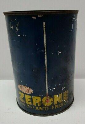 Vintage DUPONT ZERONE ANTIFREEZE CAN anti-freeze 1qt empty tin can gas & oil