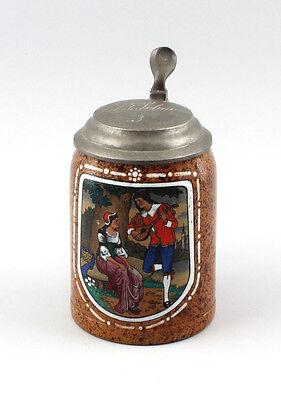 Ceramics Beer mug fling scene um 1900/30 25448019