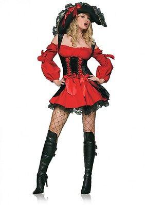 Leg Avenue Piraten Kostüm ,Mollig,Halloween,Fasching,Karneval,Sexy,OVP/NEU 83157