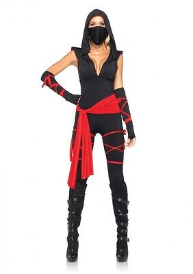 Ninja Kostüme Sexy (LAG Leg Avenue 85087 Sexy Damen Kostüm Ninja Krieger Deadly Ninja Warrior S-XL)